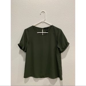 Forever 21 Small Olive Green Blouse